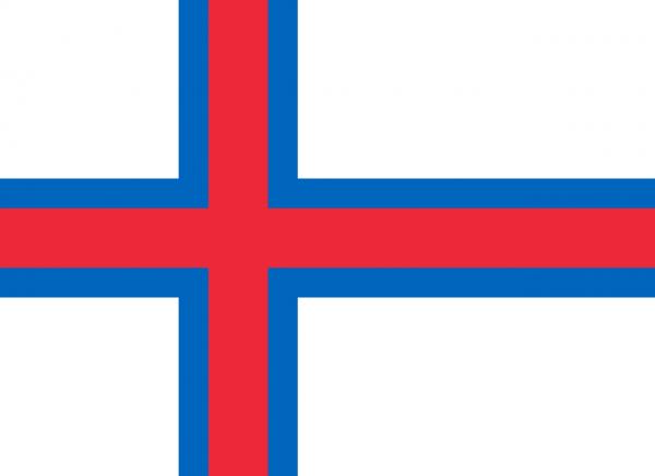 Vlag Faeroer Eilanden 100x150cm Glanspoly
