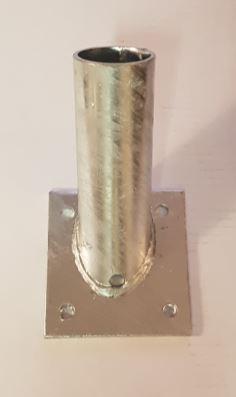 Vlaggenstok houder verzinkt staal 40mm