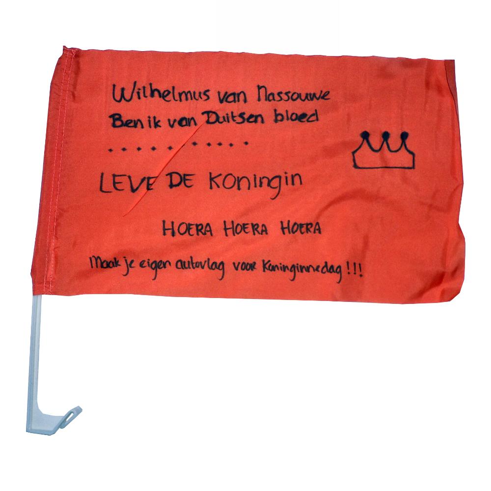 Maak je eigen koningsdag autovlag