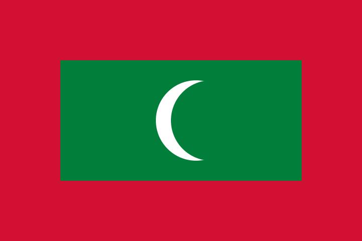 Maledivische vlag | vlaggen Malediven 100x150cm gevelvlag