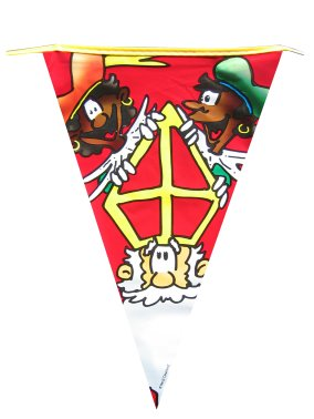 Sinterklaas vlaggenlijn cartoon 6m