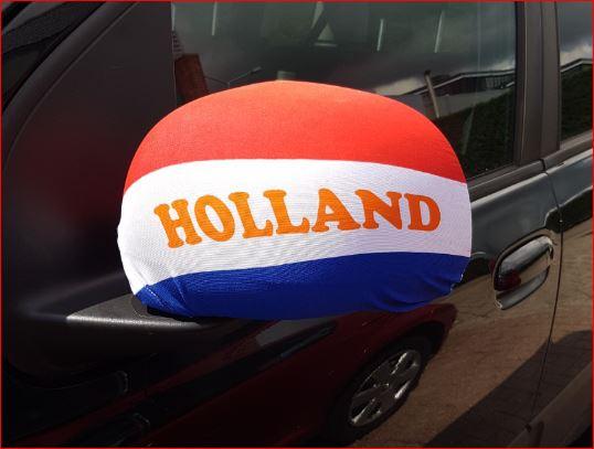 autospiegel hoezen Holland R/W/B set van 2 stuks
