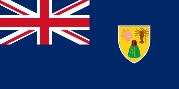 Tafelvlag Turks- en Caicoseilanden met standaard