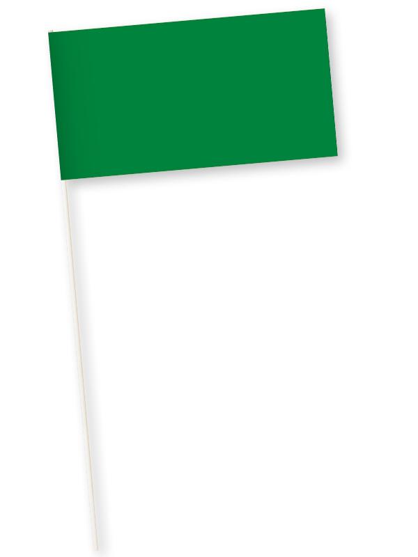 groene zwaaivlaggetjes papier 11x21cm 10 stuks