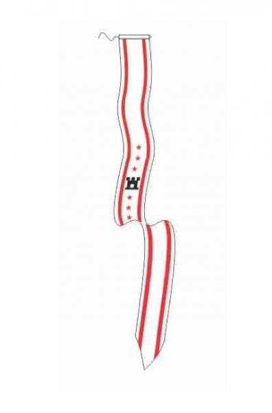 Wimpel Drenthe 25x300cm met koord en lus type II
