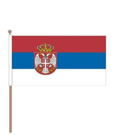 Zwaaivlaggetje Servië 15x22cm