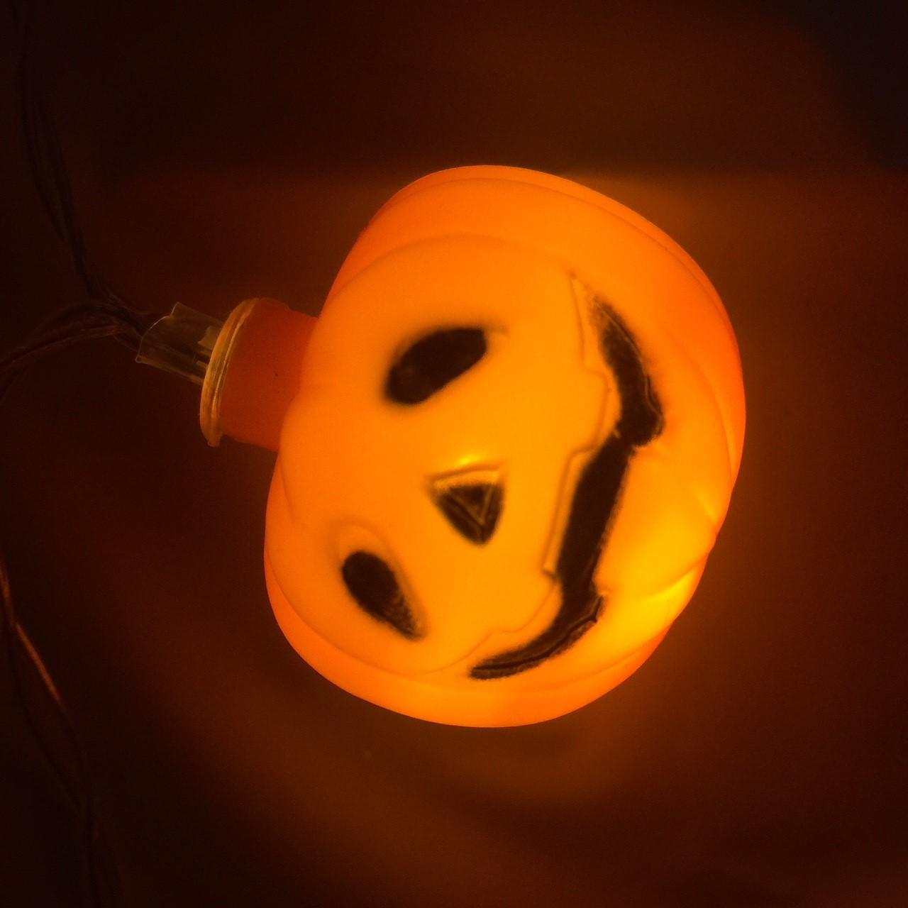 Pompoen Halloween.Halloween Pompoen Led Lichtsnoer 10 Stuks