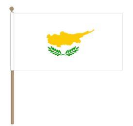 Zwaaivlag Cyprus, Cypriotische fanvlag 30x45cm, stoklengte 60cm