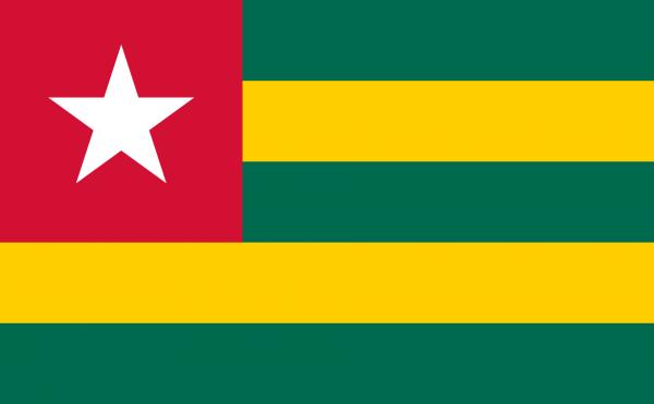 Vlag Togo 100x150cm Glanspoly