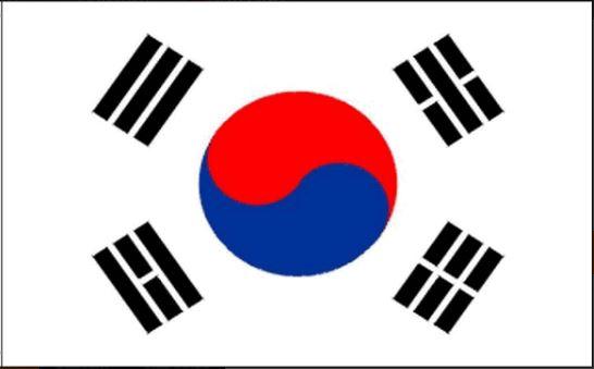 Zuid Koreaanse tafelvlag | tafelvlaggen Zuid Korea 10x15cm