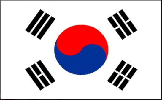 Tafelvlag Zuid-Korea 10x15cm