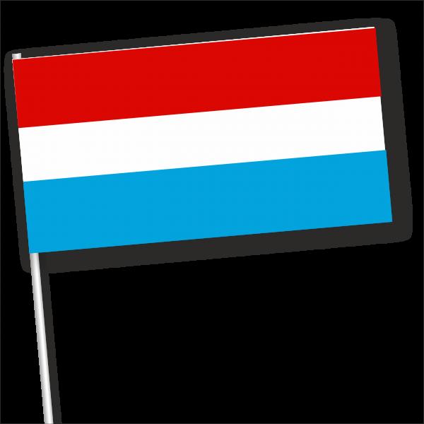 Zwaaivlag Luxemburg papier 11x231cm houten stokje