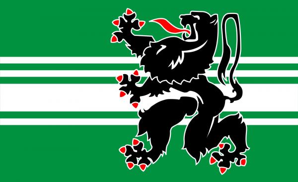 Grote vlag Oost-Vlaanderen