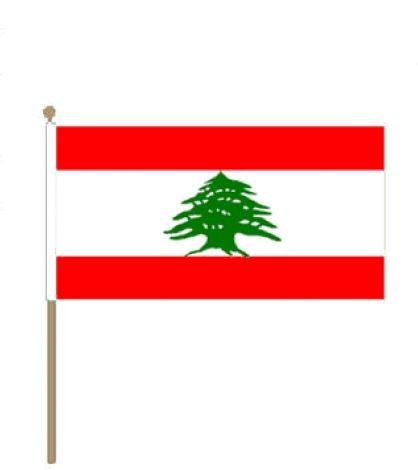 Zwaaivlag Libanon 30x45cm.