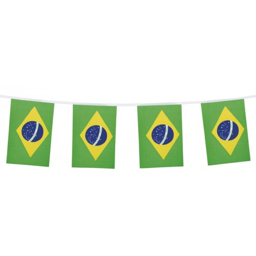 Vlaggenlijn brazilaanse vllag 3m1 stof