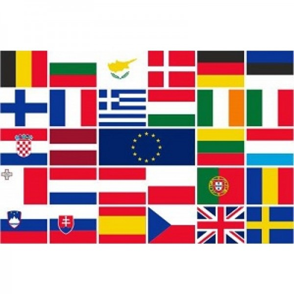 Tafelvlaggen landenset 28 stuks 10x15cm