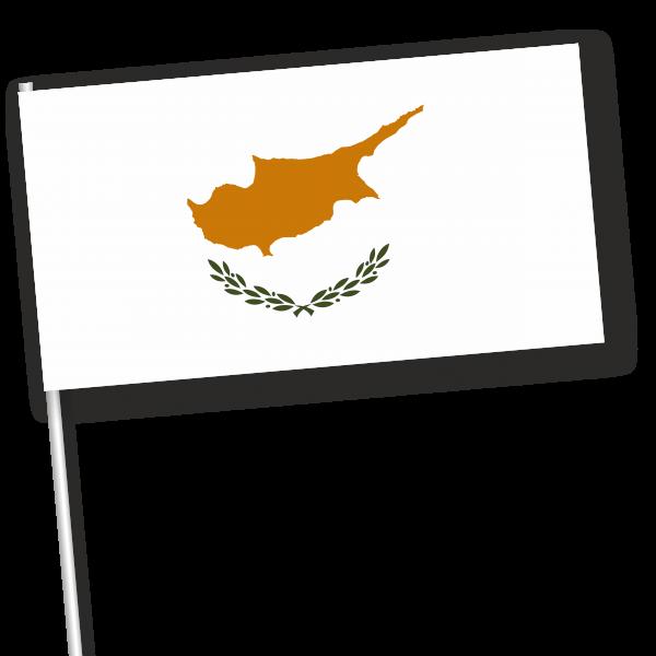 zwaaivlag Cyprus, Cypriotische zwaaivlag 11x21cm