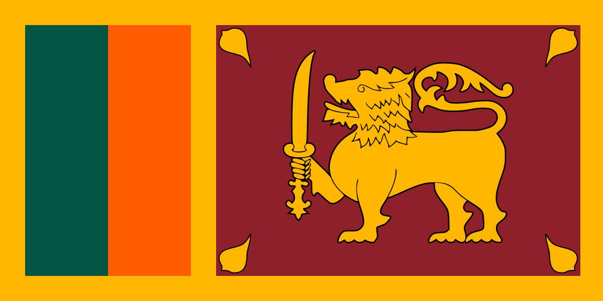 Tafelvlaggen Sri Lanka | Sri Lankaans tafel vlaggetje 10x15cm kopen bij Vlaggenclub