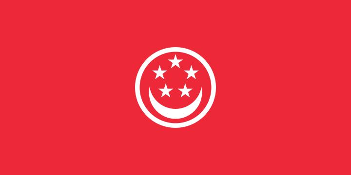 Singaporese koopvaardij vlag | vlaggen Singapore koopvaardij 100x150cm gevelvlag