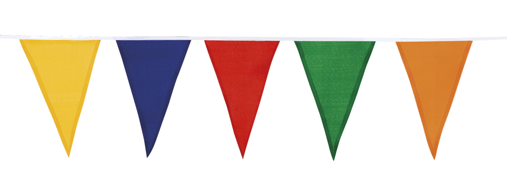 Vlaggenlijn katoen Vrolijke kleuren 10m