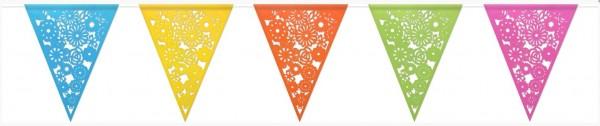 Vlaggenlijn Bloemen met vrolijke kleuren van papier 6m