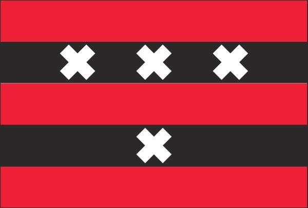 vlag Amstelveen 20x30cm vlaggetje