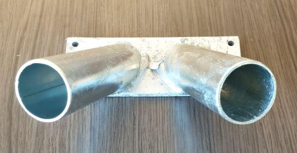 Vlaggenstokhouder Zilverkleurig 30mm