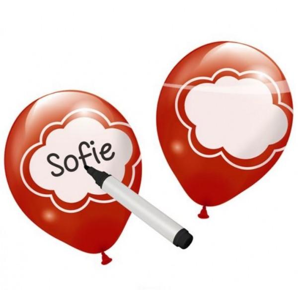 Ballonnen beschrijfbaar maak je eigen ballon wensballon in 6 kleuren per pakje
