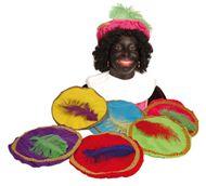 Zwarte Piet baret Luxe kindermaat baretten