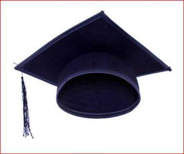 Geslaagd hoed Highschool professor kap muts rechter