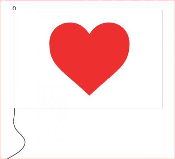 Vlag met Hart Hart onder de riem vlag