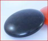 Zwarte platte knop voor banierenmast