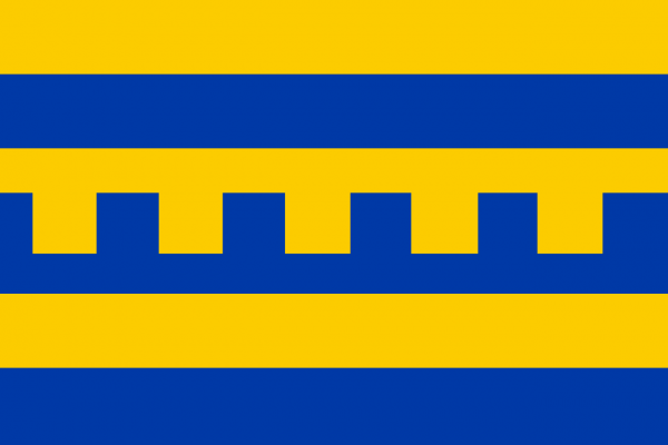 Vlag Harderwijk 20x30cm bootvlaggetje tentvlag