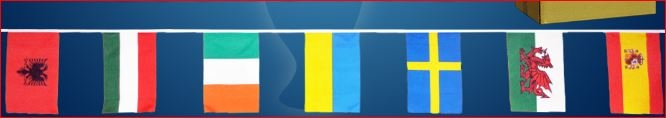 Vlaggen pakket met 24 grote vlaggen van alle deelnemende landen aan het EK voetbal 2016