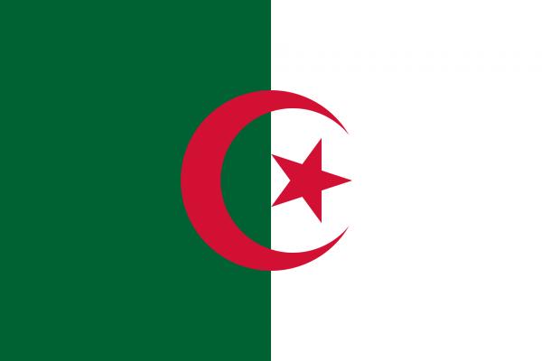 Vlag Algerije 100x150cm Glanspoly