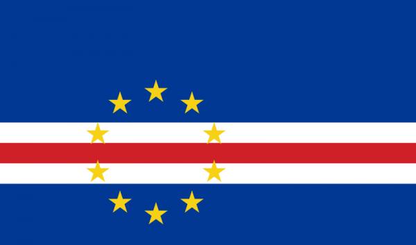 Tafelvlag Kaapverdische Eilanden met standaard