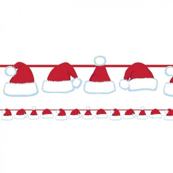 Slinger kerstman mutsjes 1,25m