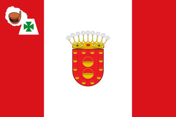 Vlag La Gomera 30x45cm