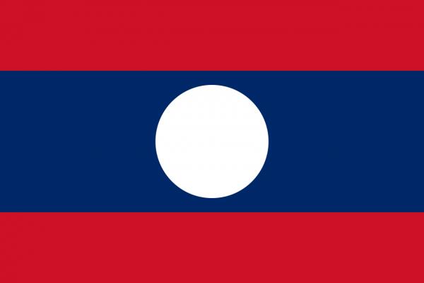 Vlag Laos 100x150cm Glanspoly