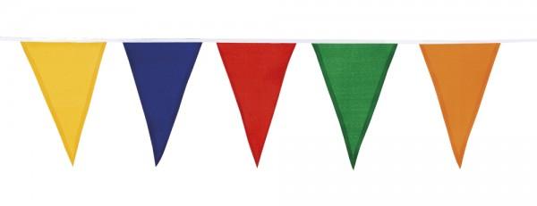 Vlaggenlijn katoen vrolijke kleuren Carnaval Zomer buiten 10m1