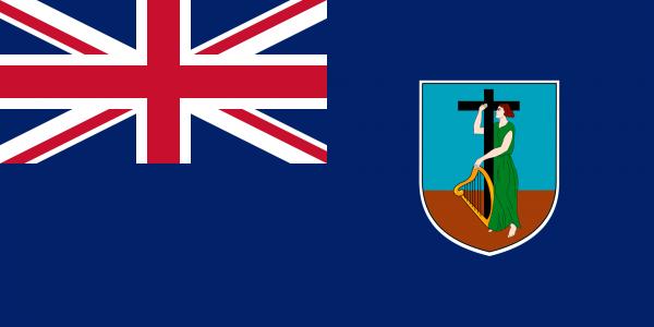 Tafelvlag Montserrat met standaard