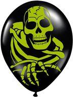 Halloween ballonnen Doodskop Horror 8 stuks