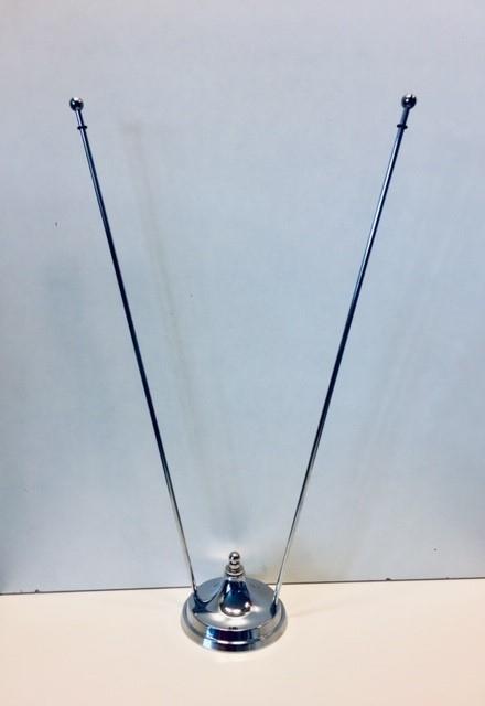 Tafelstandaard chroom duo voor 2 vlaggetjes 10x15cm of 15x25cm