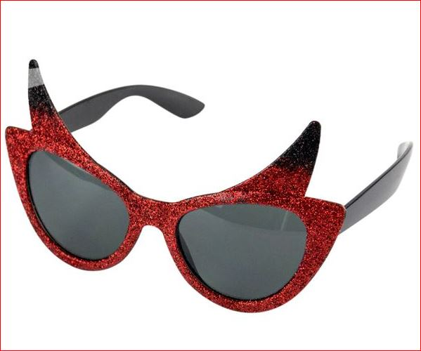 Duivel Zonnebril Rode Duivels en Halloween bril