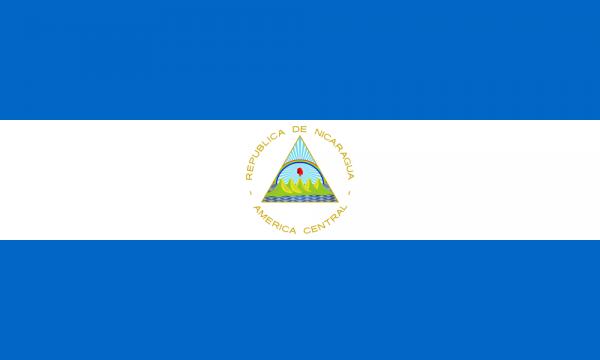 vlag Nicaragua   Nicaraguaanse vlaggen 100x150cm