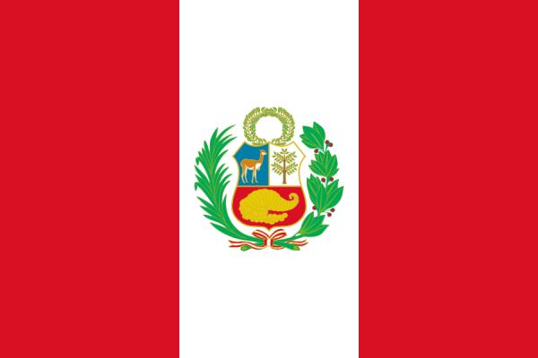 tafelvlaggen Peru 10x15cm | Peruviaanse tafelvlag