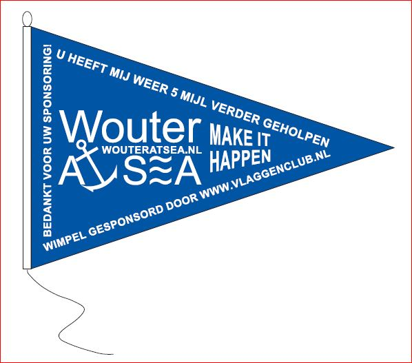 Wouter at Sea sponsorwimpel