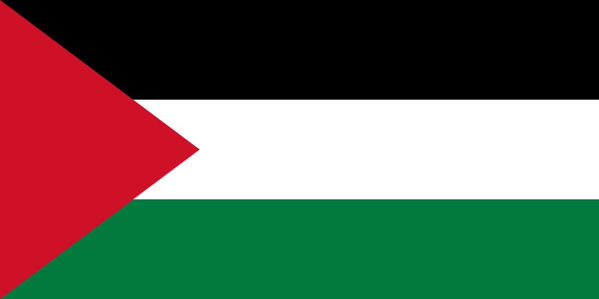 Palestijnse vlag | vlaggen Palestina 100x150cm gevelvlag