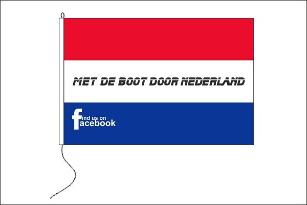 Met de boot door Nederland vlag 100x150cm