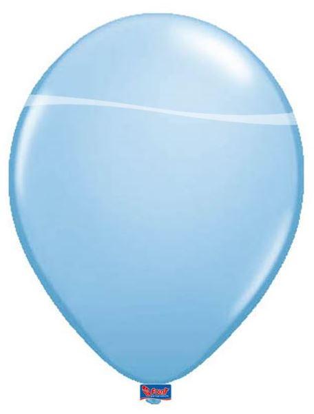 Lichtblauw Ballonnen Metallic 10 stuks